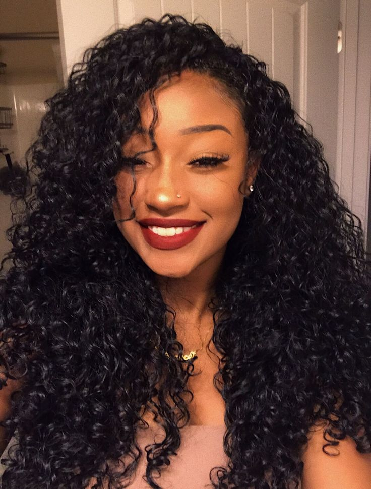 Klaiyi Hair Virgin Deep Wave Curly Hair Style $56.2-$160.3 3pack or 4 Pack, 100% Unprocessed Human Hair Weave Extensions, Free Shipping
