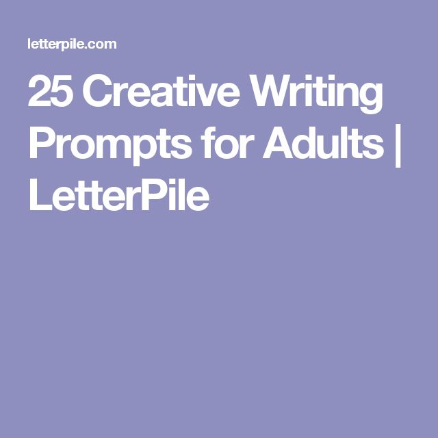 creative writing resources for adults Sure, some people have more of an aptitude for imaginative writing than others, but you can help every student to develop their potential while i am well aware of the old adage about grannies and eggs, i thought i'd share some of the strategies that have worked for me when teaching creative writing in the.