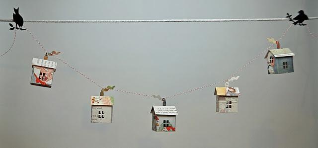 paper houses garland. Hutch studio.: Crafts Ideas, Hutch Studios, Paper Art, Art Ideas, Altered Crafts, Houses Garlands, Paper Mâché, Paper Houses, Crafty Ideas