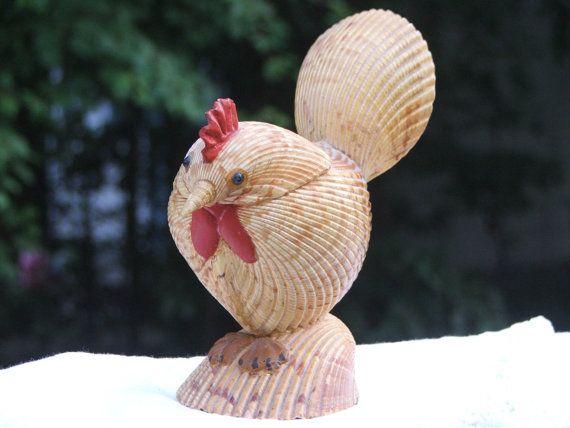 Chicken Figure Made of Seashells