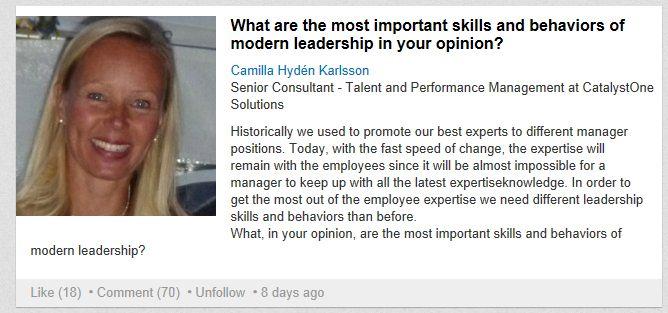 """Hva LinkedIn sa om """"Moderne lederskap"""" - Talentledelse i praksis"""