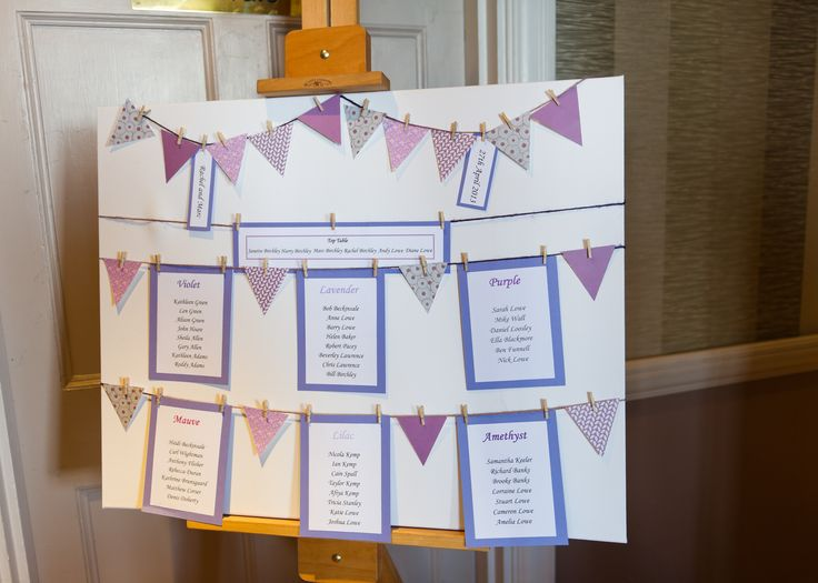 bunting wedding seating plan i made this myself from