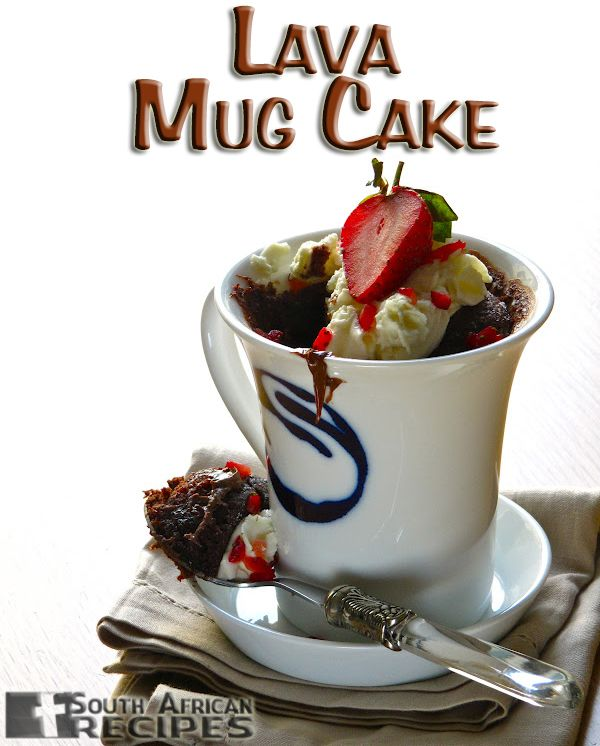 South African Recipes | Nutella Lava Mug Cake