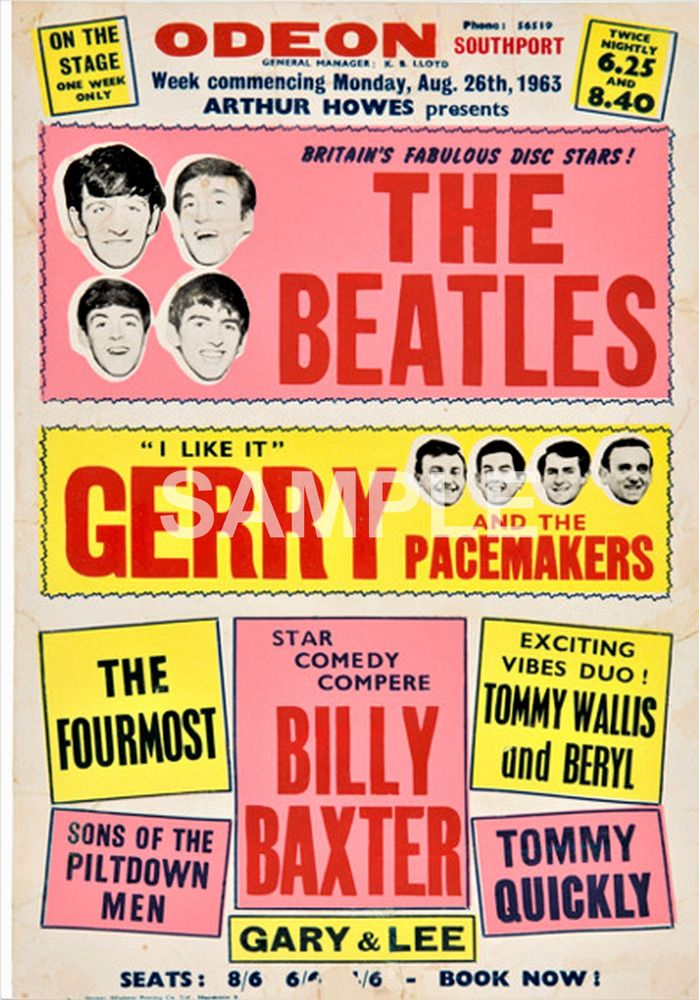 The Beatles Southport Odeon Concert Poster Uk 1963 A3 Size Repro With Images Concert Posters Concert Poster Design Vintage Concert Posters