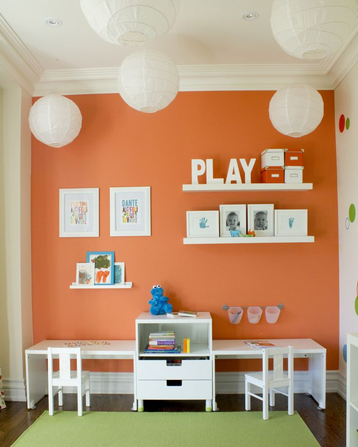 Colorful Playroom Design: 25+ Best Ideas About Orange Accent Walls On Pinterest