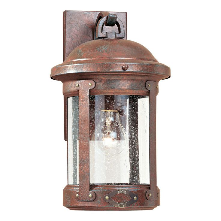 Captivating Sea Gull Lighting 8440 44 Outdoor Sconce, Weathered Copper