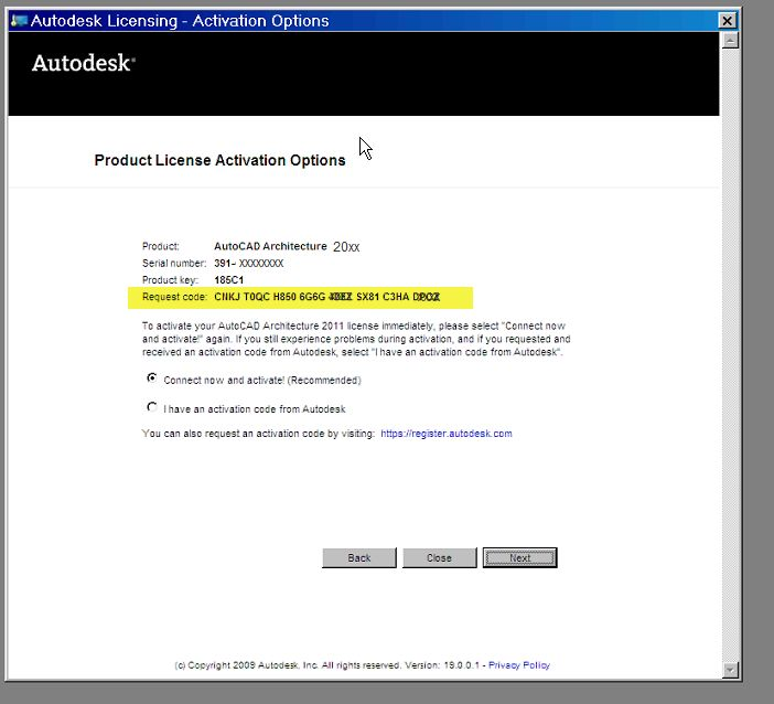 autocad 2005 serial number and activation code