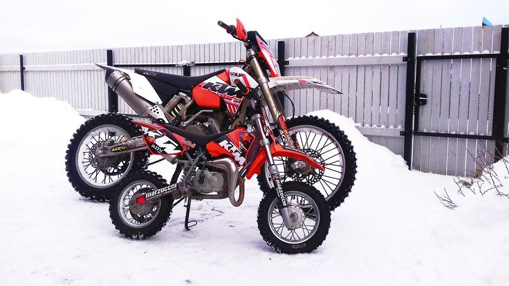KTMs in the snow
