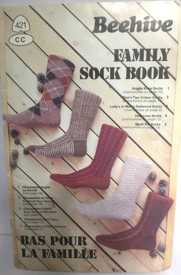 Beehive Family Sock Book, Knitted Sock, Winter Socks, Argyle Socks, Rib Socks, Leg Warmers, Heelless Socks, Highland Dancing Socks by ChezShirlianne on Etsy