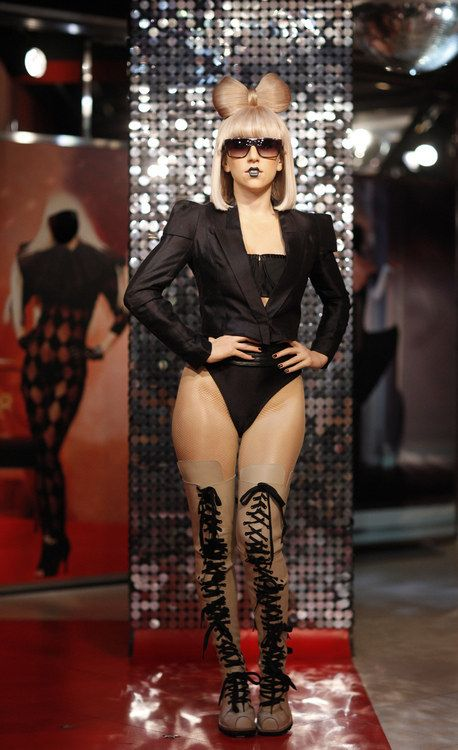 A wax figure of singer Lady Gaga after its unveiling at the Madame Tussauds museum in Berlin.