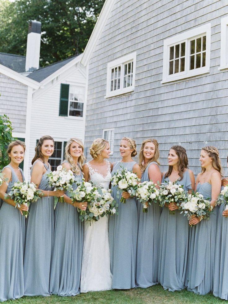 Rustic wedding: Floral Design: SHE Luxe Weddings & Design - http://www.stylemepretty.com/portfolio/she-luxe-weddings-and-design Wedding Dress: Liancarlo - http://liancarlo.com/ Photography: Christina Bernales - christinabernales.com   Read More on SMP: http://www.stylemepretty.com/2017/01/23/summer-maine-wedding/