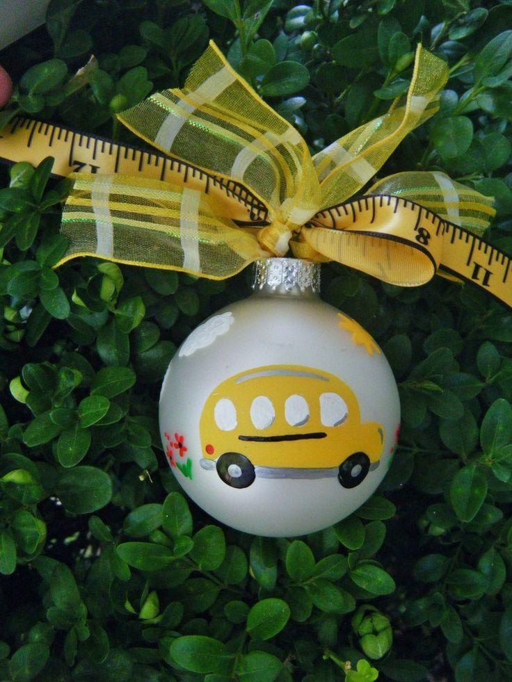 School Bus Ornament Teacher Appreciation by BrushStrokeOrnaments