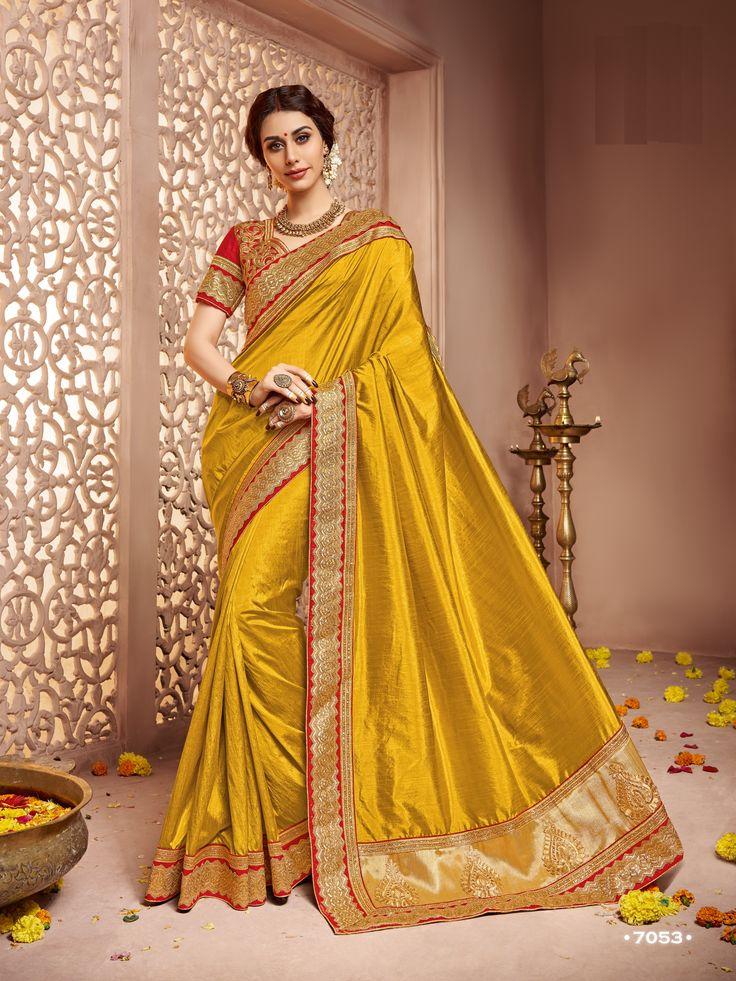Price @2389.00 INR Colour : Golden Saree Fabric : Art Silk ...