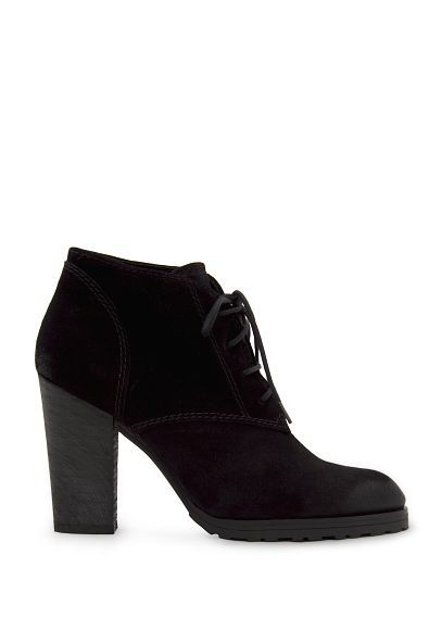 MANGO - Lace-up suede ankle boots