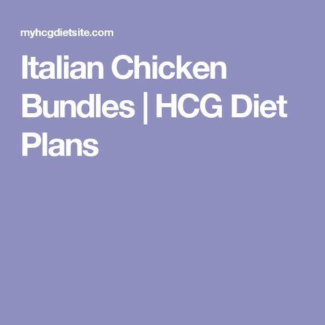 Italian Chicken Bundles | HCG Diet Plans