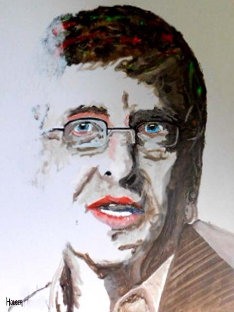 bill gate : by holger acrylic on canvas 60x45 cm