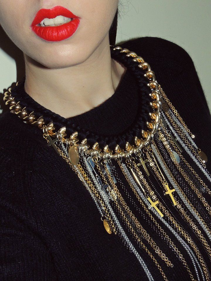 - chains and crosses Fire de Murg necklace -
