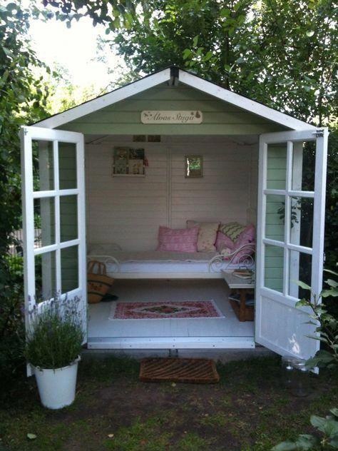Das neue Gartenhaus einer Freundin, es nennt sich passend