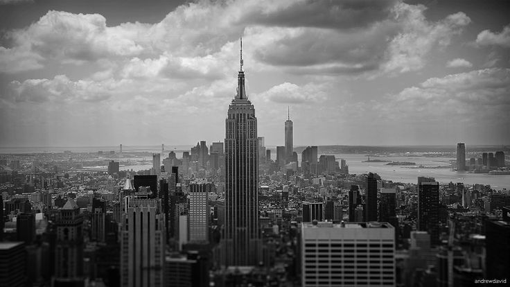 July 29, 2014: Andrew Hebert's black-and-white picture is the fourth weekly finalist in the Empire State Building's photo contest.