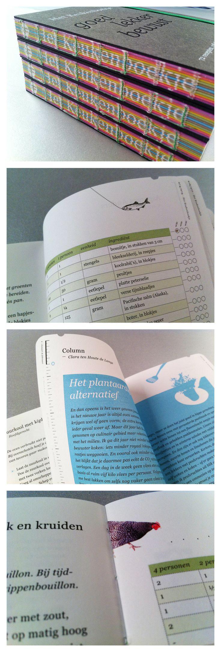 KEUKENBOEKJE Een klein boekje vol tips, recepten, tabellen en weetjes. Speels vormgegeven en op een mm grid gefinetuned. Ontwerp en dtp.