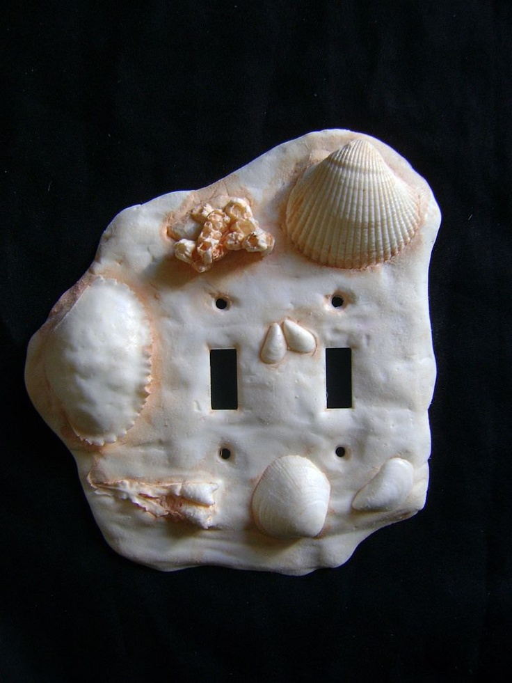 Sea Shell Double Light Switch Cover
