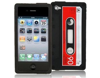 Şık ve farklı tasarımıyla iPhone 4/4S'inize farklı bit hava katacak kaset görünümlü silikon koruyucu!