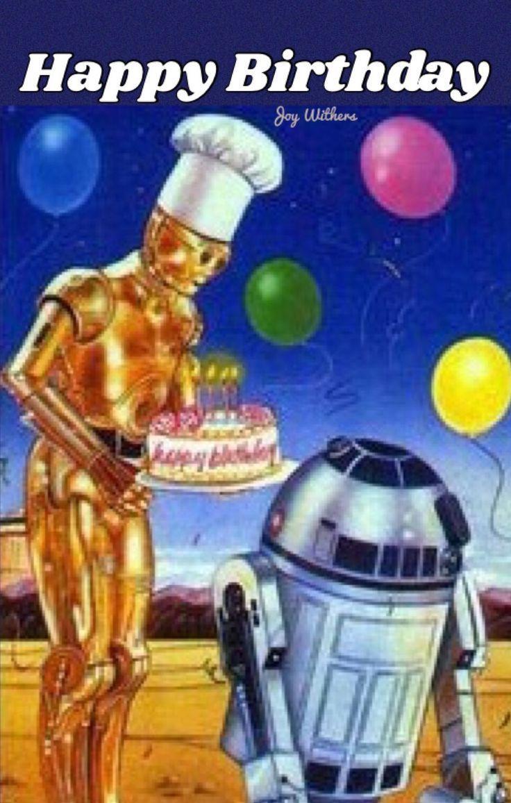 Un Robot Donne Un Gateau D 39 Anniversaire Sur La Lune Geburtstag D39anniver Funny Happy Birthday Images Happy Birthday Images Star Wars Happy Birthday