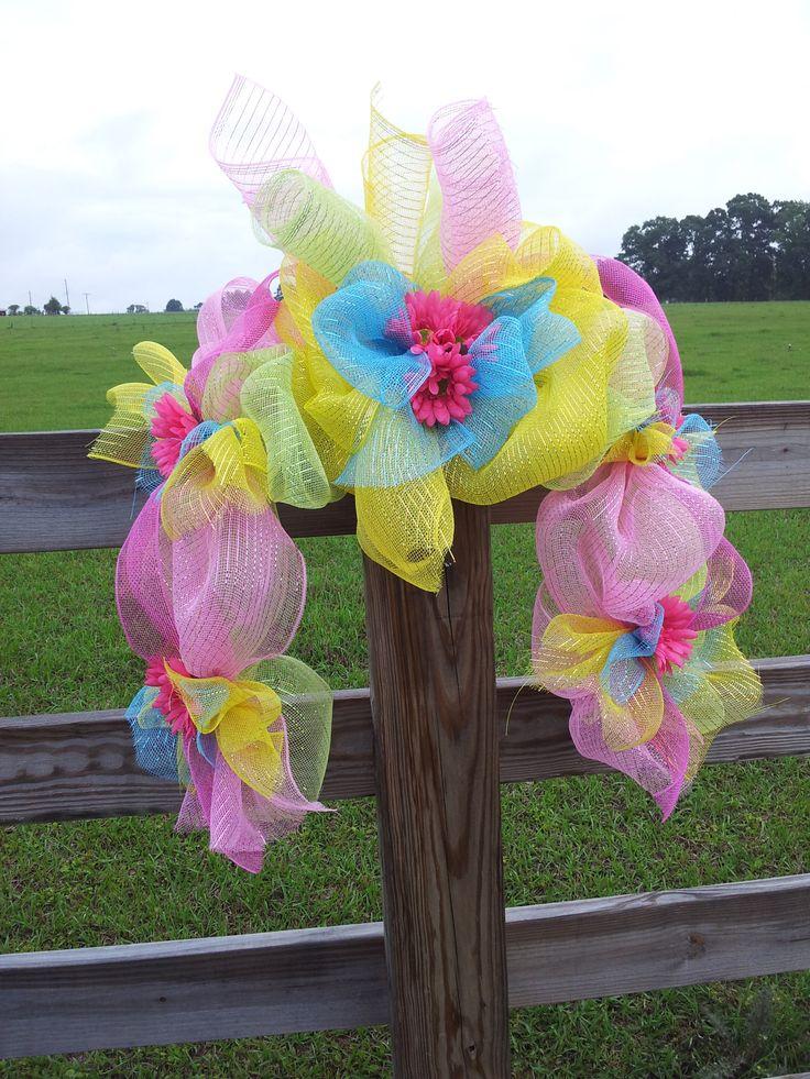 Easter mailbox swag by Glenda