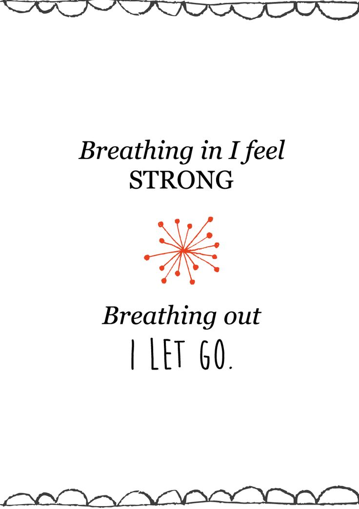 birth affirmations, breathing in and out