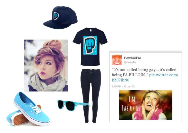 """PEWDIEPIE (Sister..?)"" by awesomesauceunicornislandnerd on Polyvore featuring Edwin, Vans, women's clothing, women, female, woman, misses and juniors"