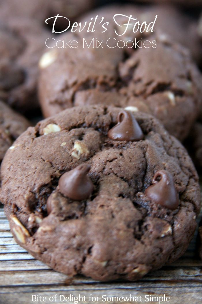 Devil's Food Cake Mix Cookies! So easy and yummy!