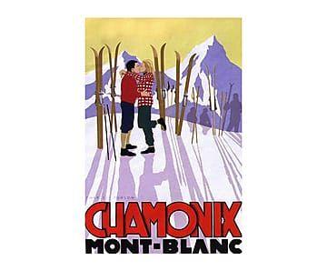 Impresión en lona Mont Blanc, multicolor - 60x40 cm