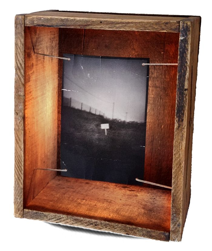 HANDMADE Photo LIGHTBOX #187 __ Box found in an abandned house _ May 2014 _ You can buy it at ETSY.COM _ $135 USD // 100 Euros