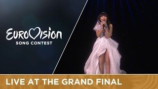 LIVE - Dami Im - Sound Of Silence (Australia) at the Grand Final, live performance was strong, great voice, though in my opinion the dress is not very beneficial, another dress and not so much sitting on that block and it would have been my number one (place 2, 511 points)