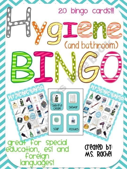 Hygiene Bingo - teaching preschoolers about bathroom & hygiene skills