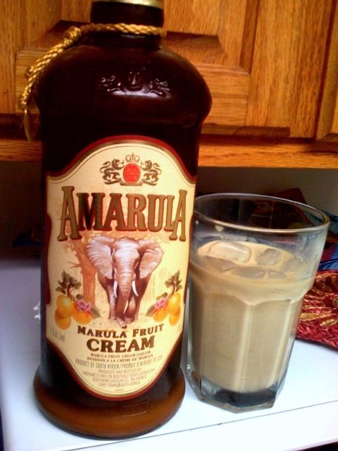 Amarula is a cream liqueur from South Africa. It is made with sugar, cream and the fruit of the African marula tree (Sclerocarya birrea) which is also locally called the Elephant tree or the Marriage Tree.