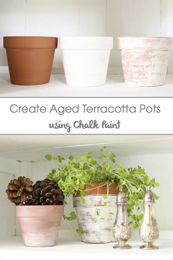 How to Age Terracotta Pots Using Chalk Paint