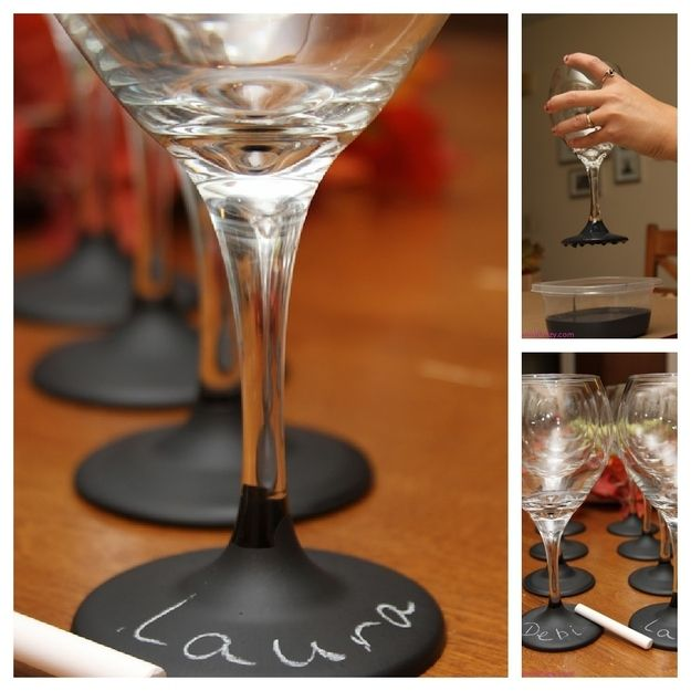 17. Wine Glasses | 33 Things You Can Turn Into Chalkboards
