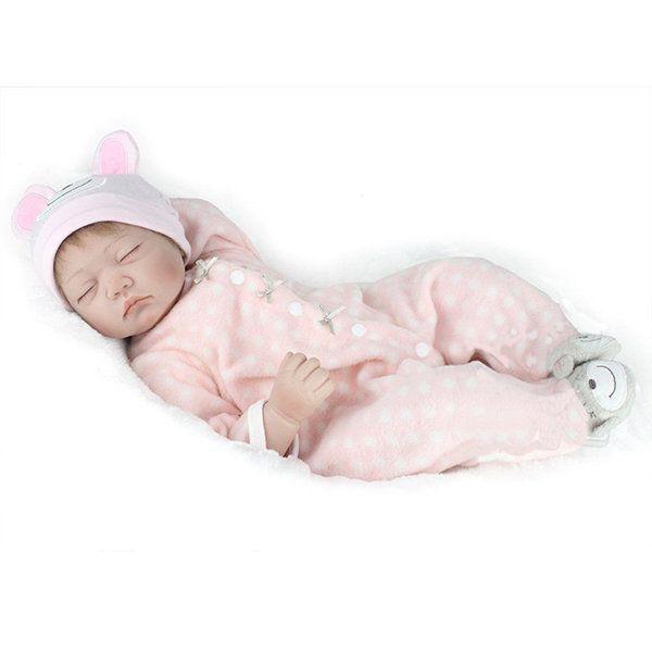 22inch Reborn Baby Doll Silicone Handmade Lifelike Dolls Play House Toy