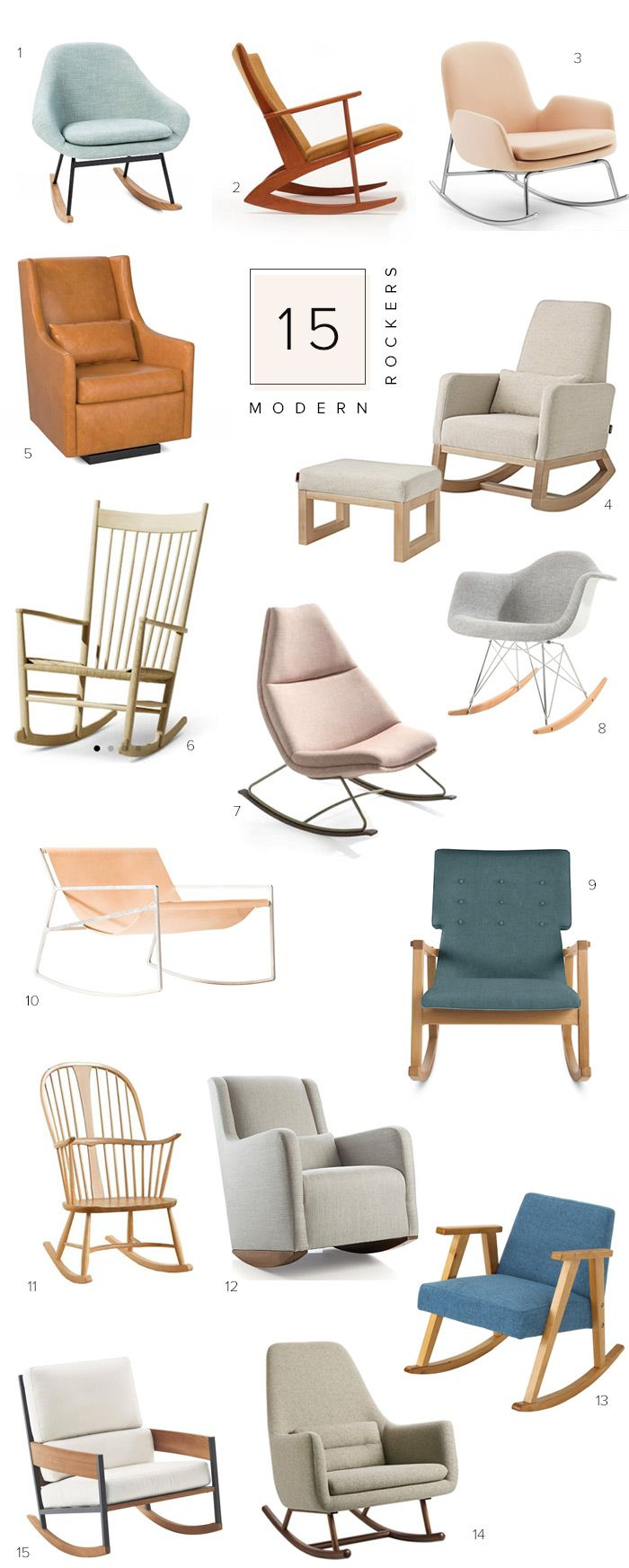 15 modern rocking chairs on 100 Layer Cakelet