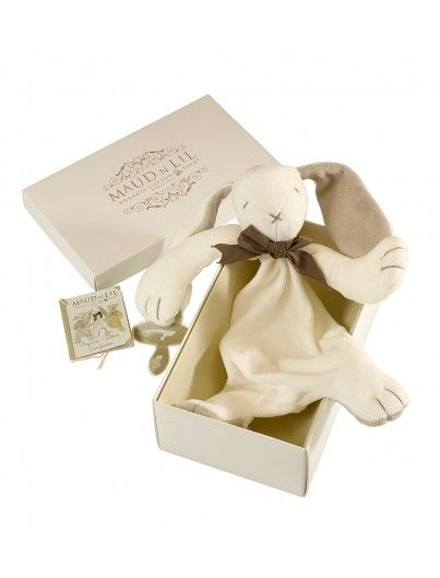 Maud n Lil Organic Cotton Toys Baby comforter in Gift Box