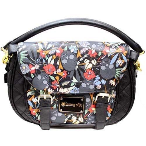 Loungefly Black Flower Skull Crossbody Bag Satchel Purse Gothic Handbag NEW | Purses U0026 Bags ...