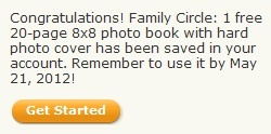 Yay! Shutterfly and Family Circle have come together to offer a FREE 8×8 20 page Hardcover Photo Book (a $29.99 value!) just in time for Mother's Day! All you have to pay is $7.99 for shipping, which is a great price for a personalized gift delivered to your door! To get this offer, just head [...]