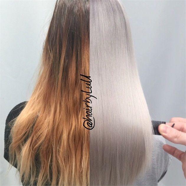 how to make silver hair dye