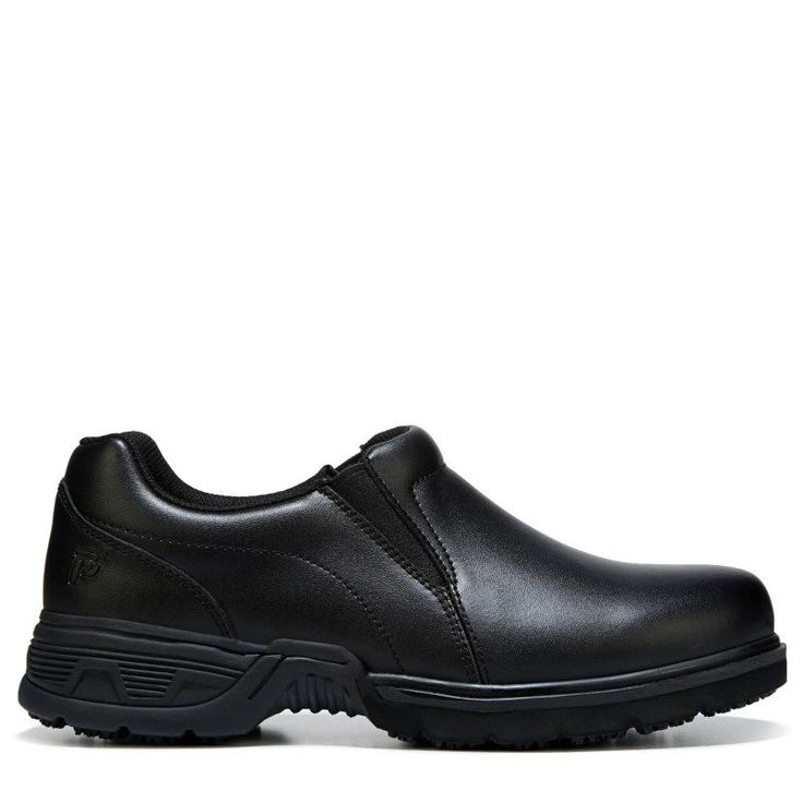 Propet Men's Zane Medium/X-Wide/XX-Wide Slip Resistant Slip On | Black  leather, Leather and Products