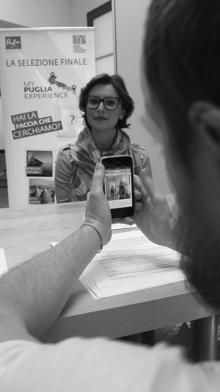 Ludovica durante le selezioni degli 8 testimonial di #MyPugliaExperience.