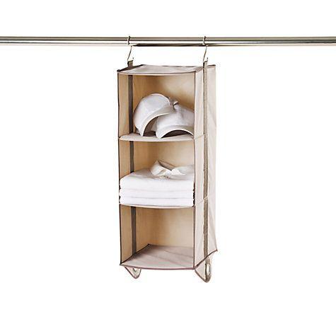 Buy neatfreak closetMAX Greystone Collection 3 Shelf Organiser Online at johnlewis.com