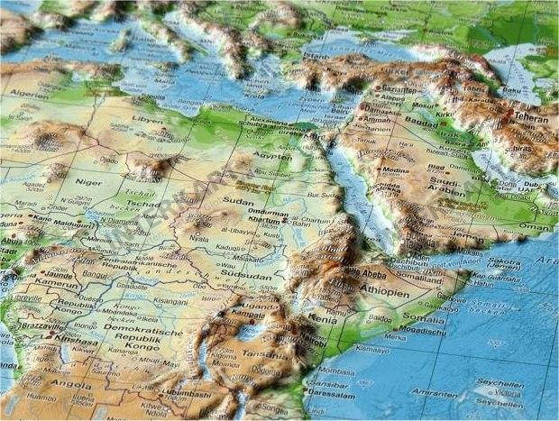 3d Raised Relief World Map With Images Relief Map World Map Map