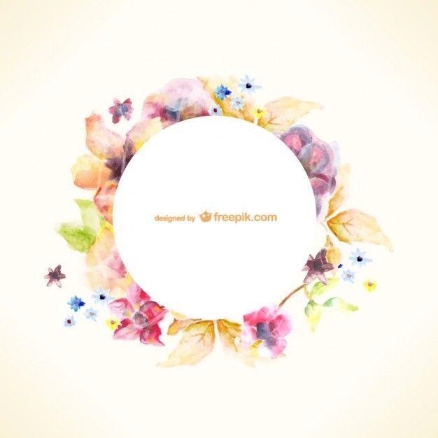 """<a href=""""http://www.freepik.es/vector-gratis/plantilla-floral-estilo-acuarela_716559.htm"""">Diseñado por Freepik</a>"""