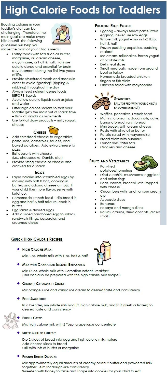 High Calorie Recipes For Toddlers Kids Pinterest